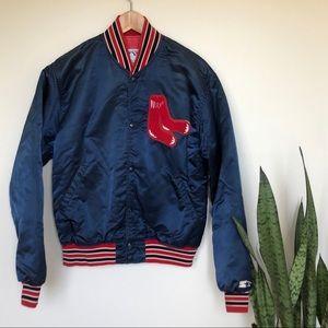 Starter Boston Red Sox Vintage Satin Bomber Jacket